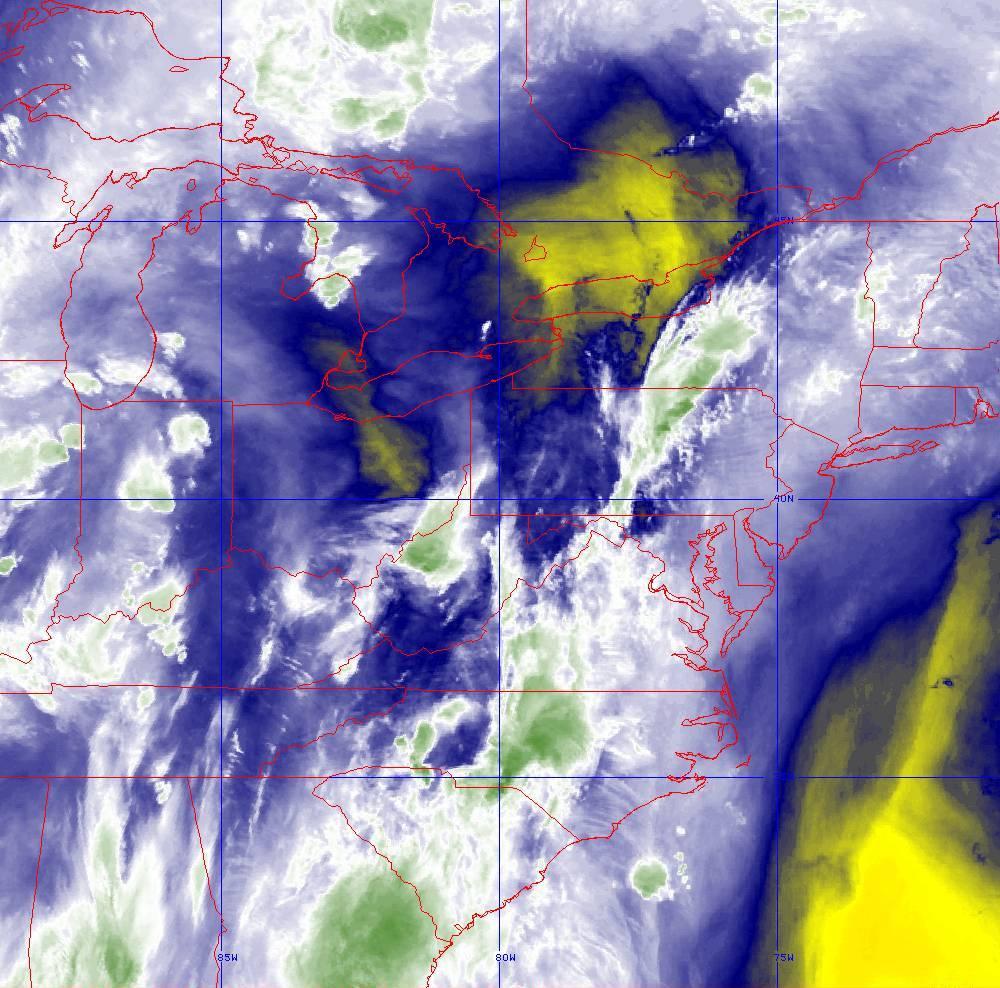 Band 9 - 6.9 µm - Mid-Level Water Vapor - IR  - 29 May 2020 - 0210 UTC