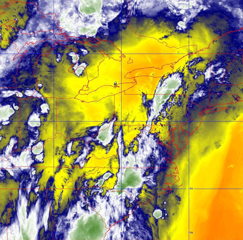 Band 10 - 7.3 µm - Lower-level Water Vapor - IR - 29 May 2020 - 0150 UTC