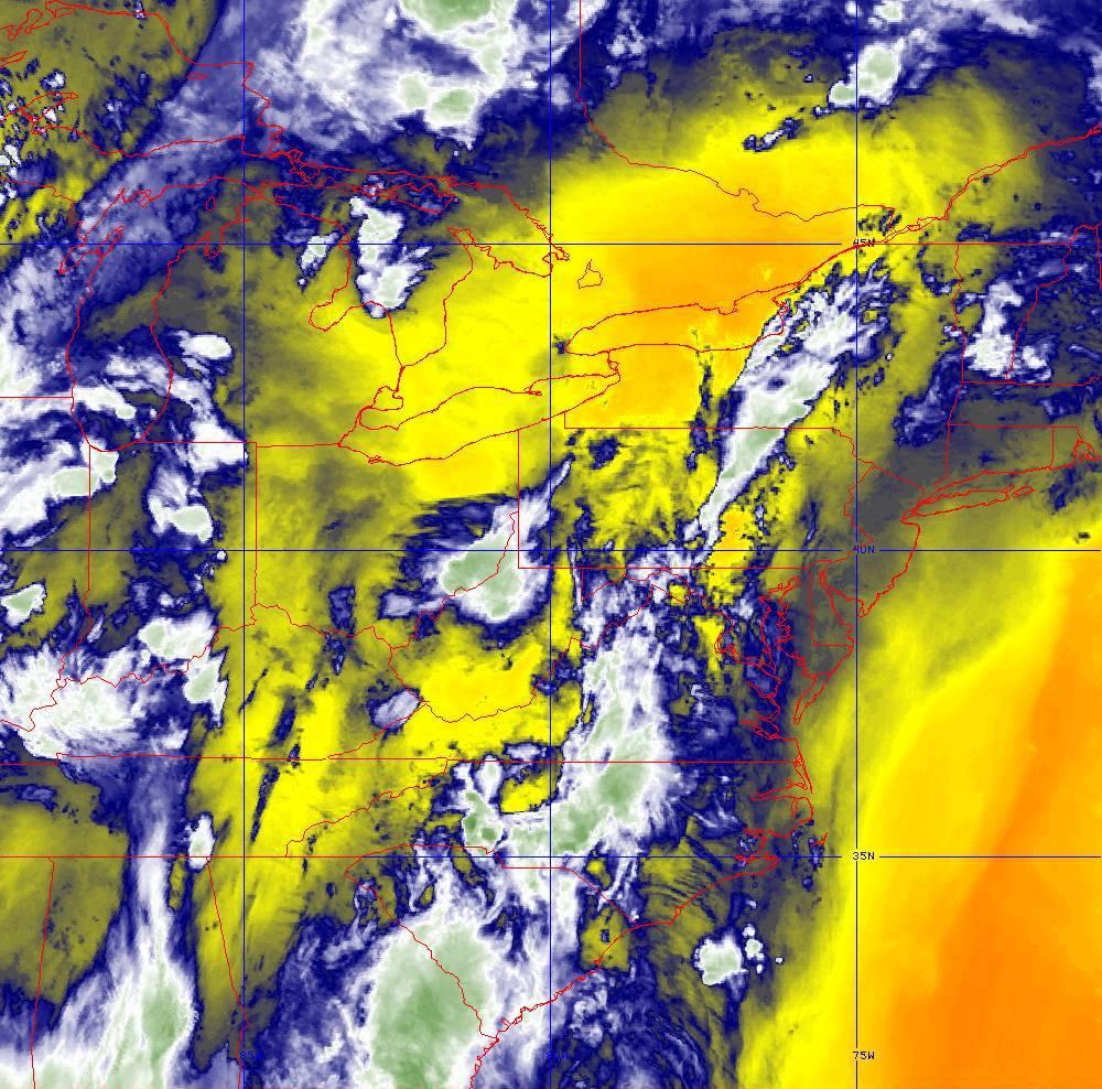 Band 10 - 7.3 µm - Lower-level Water Vapor - IR - 29 May 2020 - 0300 UTC