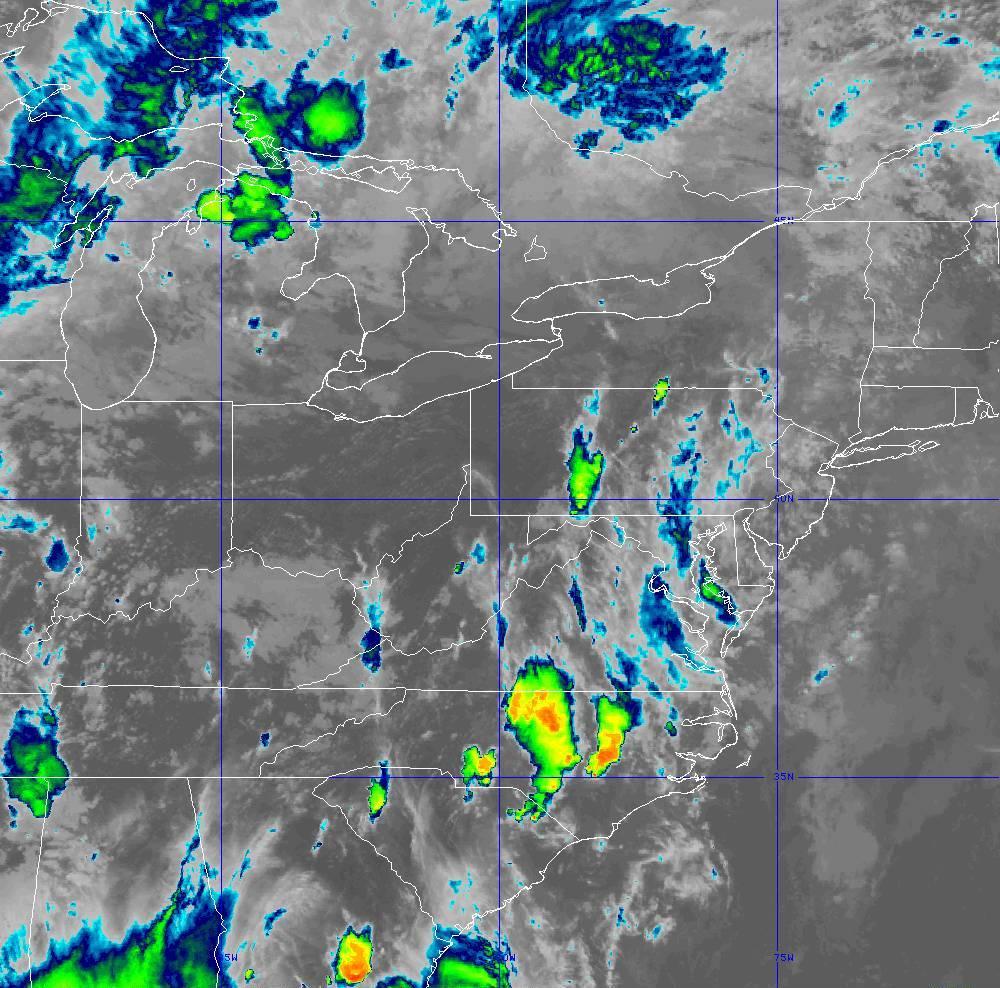 Band 11 - 8.4 µm - Cloud Top - IR - 28 May 2020 - 2220 UTC