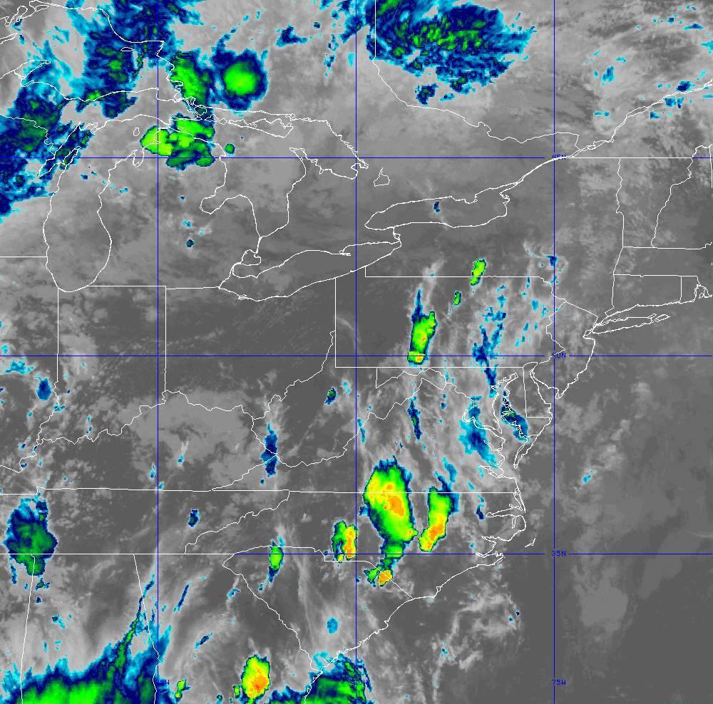 Band 11 - 8.4 µm - Cloud Top - IR - 28 May 2020 - 2240 UTC