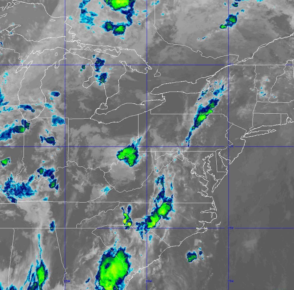 Band 11 - 8.4 µm - Cloud Top - IR - 29 May 2020 - 0250 UTC