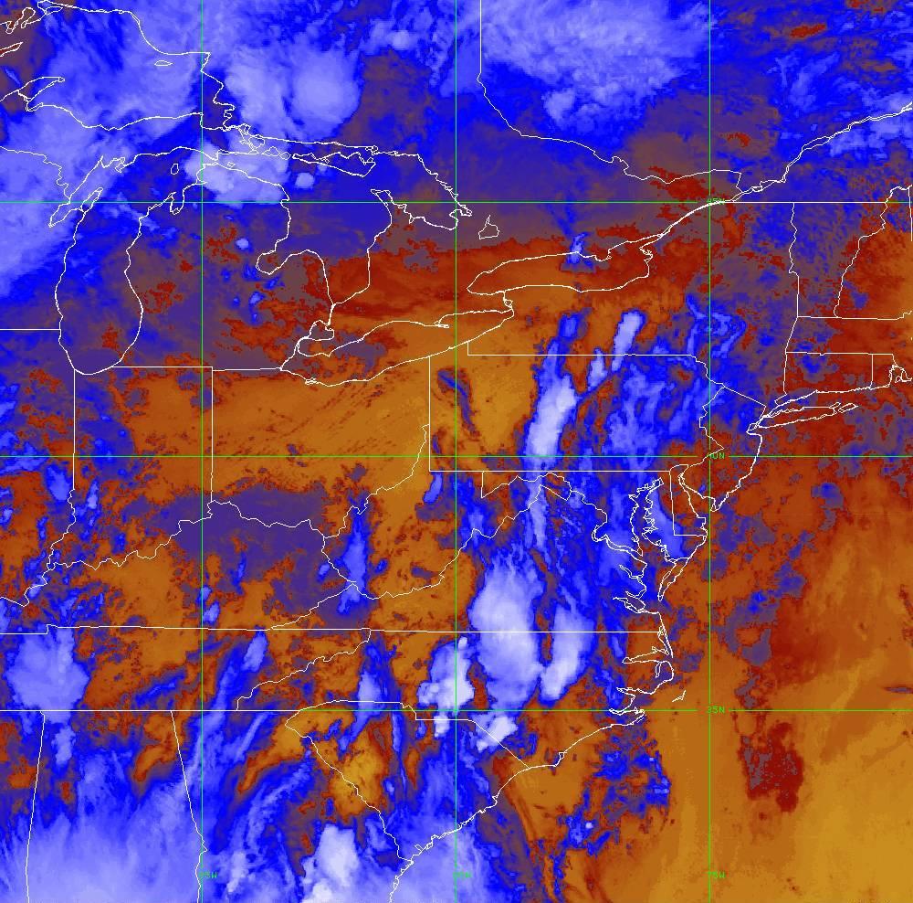 Band 16 - 13.3 µm - CO₂ Longwave - IR - 28 May 2020 - 2310 UTC