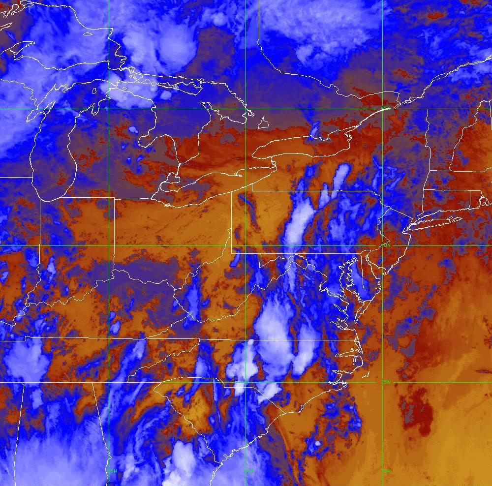 Band 16 - 13.3 µm - CO₂ Longwave - IR - 28 May 2020 - 2320 UTC