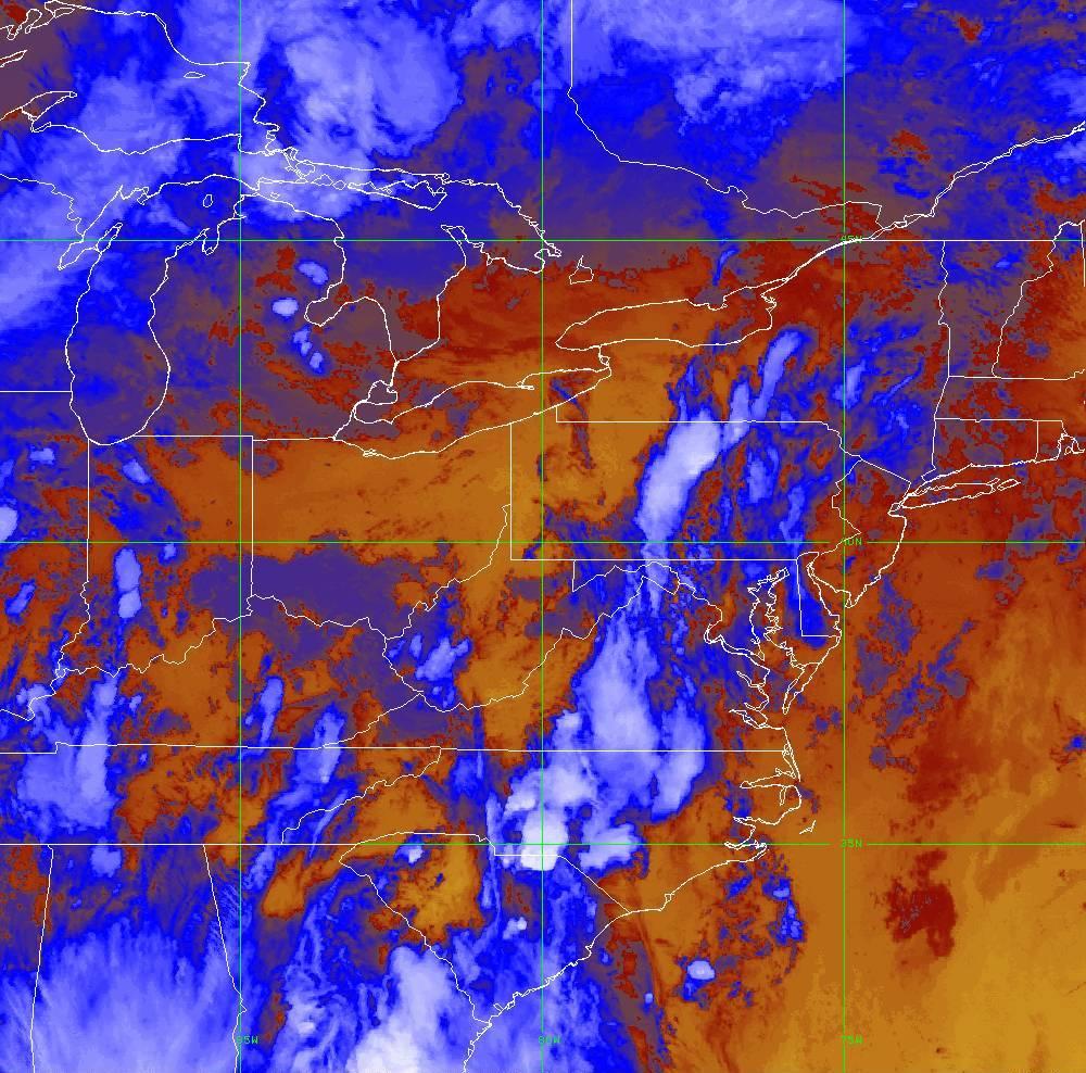 Band 16 - 13.3 µm - CO₂ Longwave - IR - 29 May 2020 - 0000 UTC