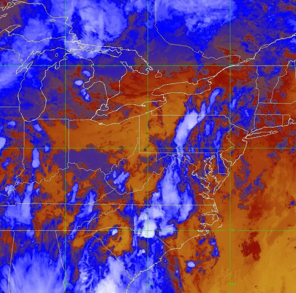 Band 16 - 13.3 µm - CO₂ Longwave - IR - 29 May 2020 - 0010 UTC