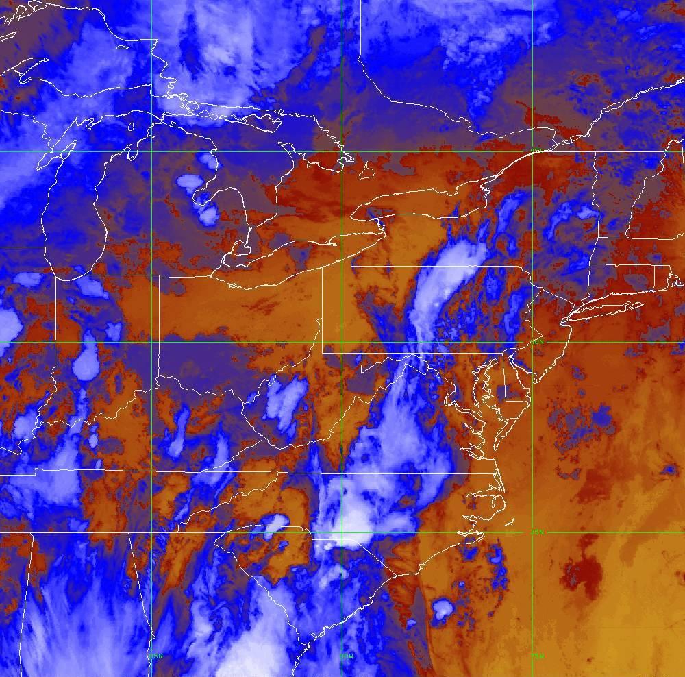 Band 16 - 13.3 µm - CO₂ Longwave - IR - 29 May 2020 - 0040 UTC