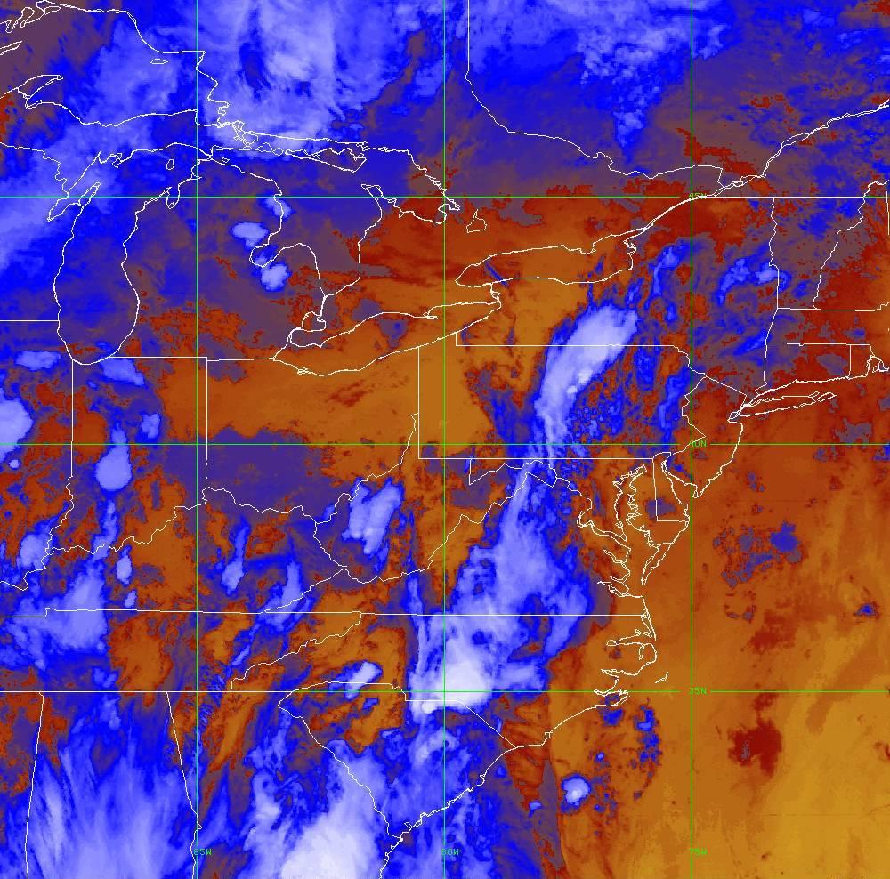 Band 16 - 13.3 µm - CO₂ Longwave - IR - 29 May 2020 - 0050 UTC