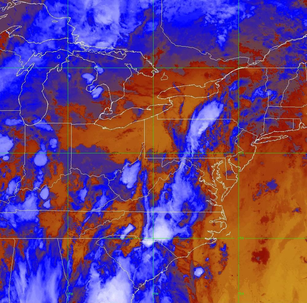 Band 16 - 13.3 µm - CO₂ Longwave - IR - 29 May 2020 - 0110 UTC