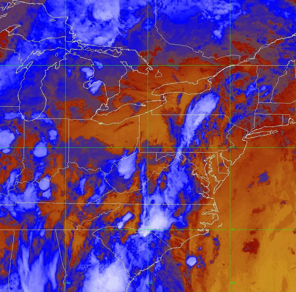 Band 16 - 13.3 µm - CO₂ Longwave - IR - 29 May 2020 - 0130 UTC