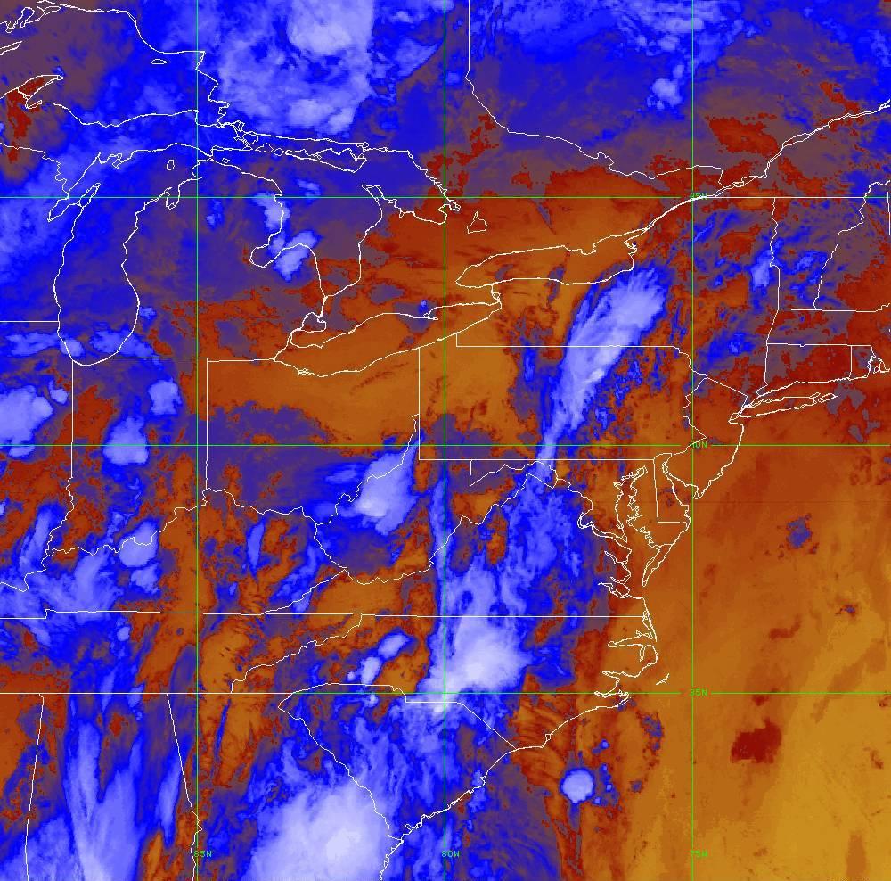 Band 16 - 13.3 µm - CO₂ Longwave - IR - 29 May 2020 - 0150 UTC