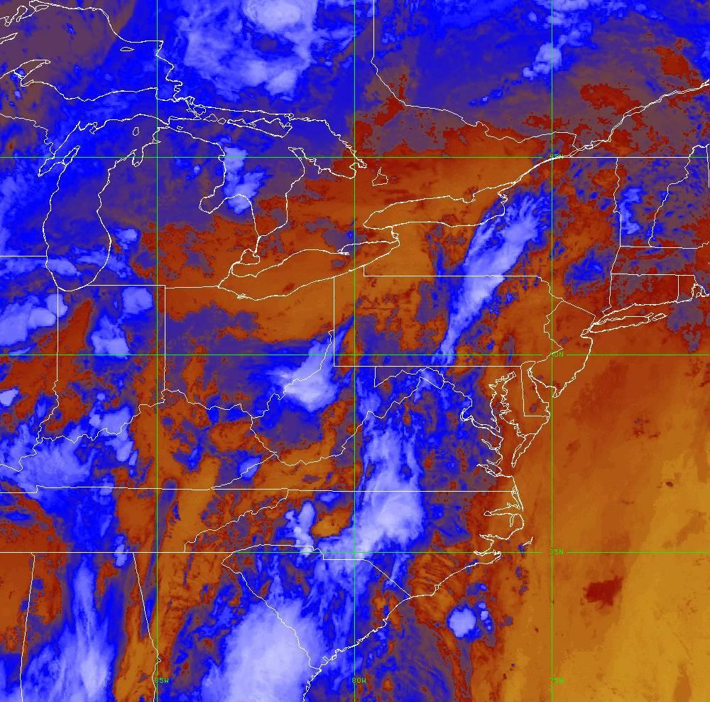 Band 16 - 13.3 µm - CO₂ Longwave - IR - 29 May 2020 - 0230 UTC