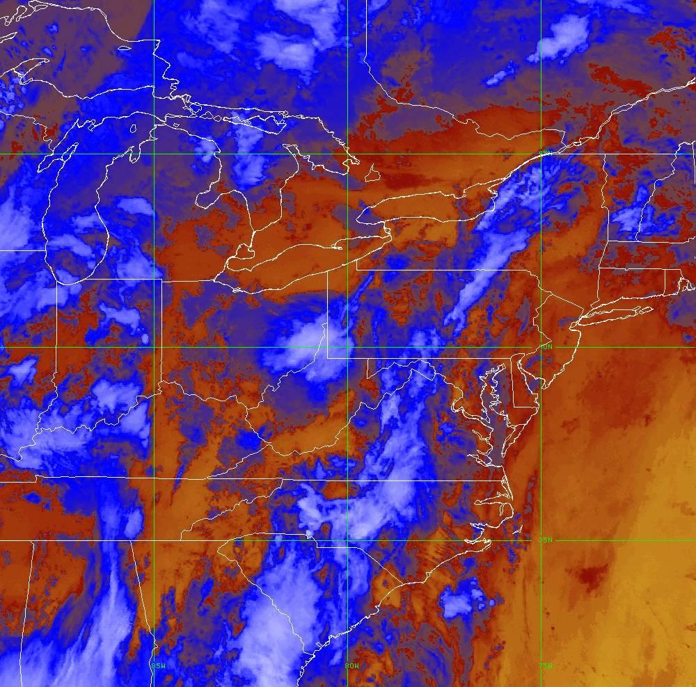 Band 16 - 13.3 µm - CO₂ Longwave - IR - 29 May 2020 - 0330 UTC