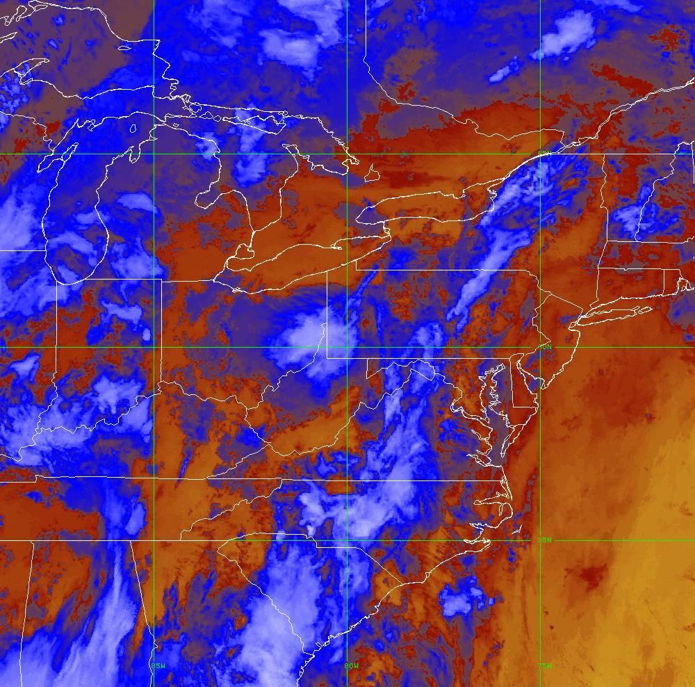 Band 16 - 13.3 µm - CO₂ Longwave - IR - 29 May 2020 - 0340 UTC