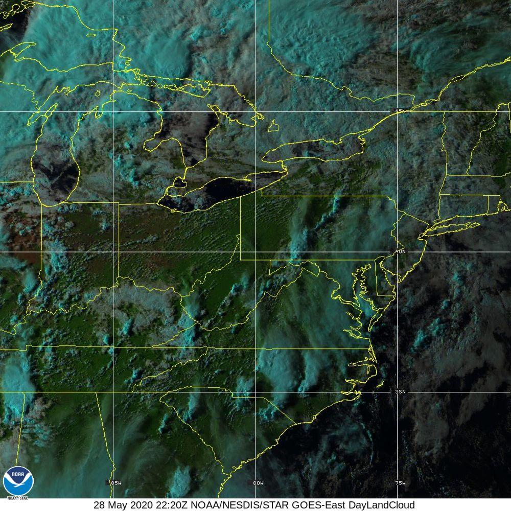 Day Land Cloud - EUMETSAT Natural Color - 28 May 2020 - 2220 UTC