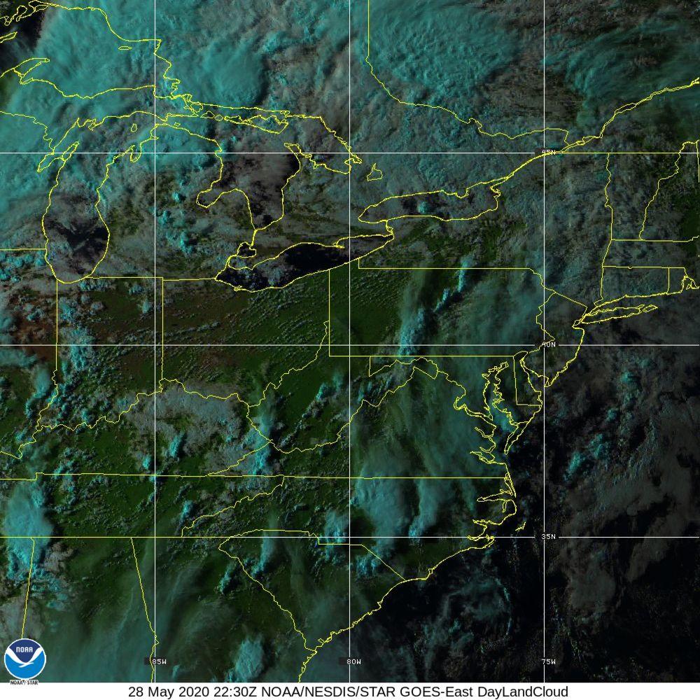 Day Land Cloud - EUMETSAT Natural Color - 28 May 2020 - 2230 UTC