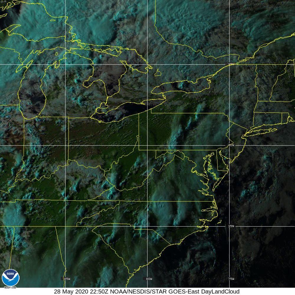 Day Land Cloud - EUMETSAT Natural Color - 28 May 2020 - 2250 UTC