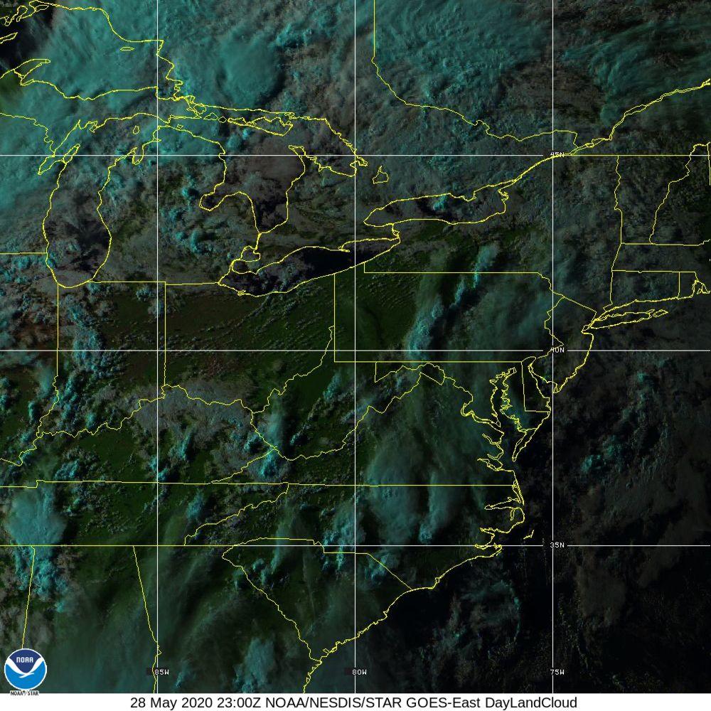 Day Land Cloud - EUMETSAT Natural Color - 28 May 2020 - 2300 UTC