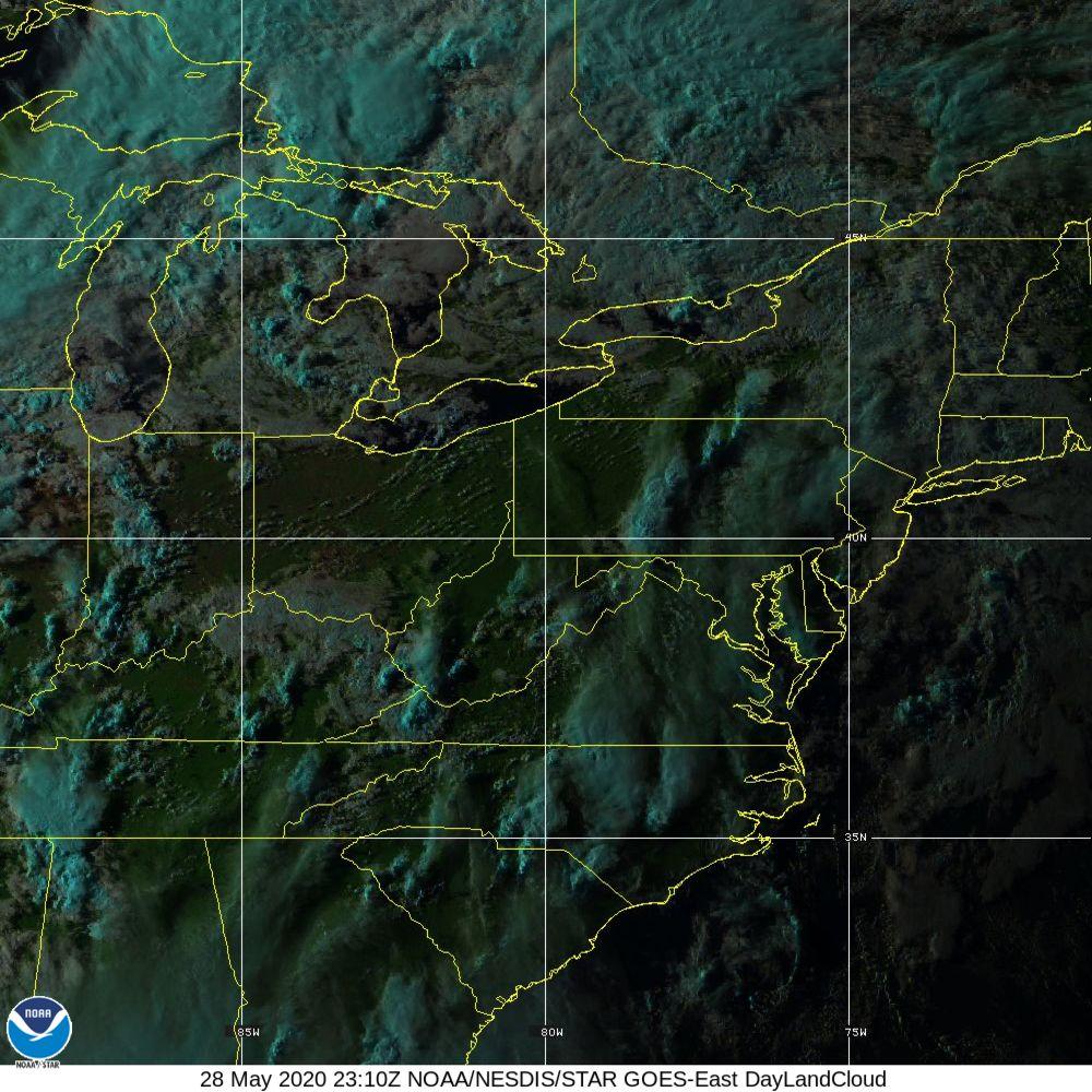 Day Land Cloud - EUMETSAT Natural Color - 28 May 2020 - 2310 UTC