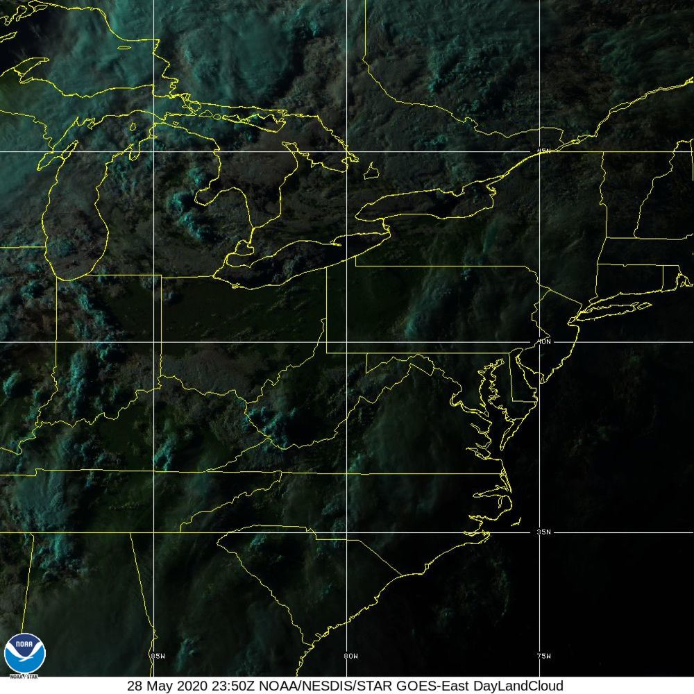 Day Land Cloud - EUMETSAT Natural Color - 28 May 2020 - 2350 UTC