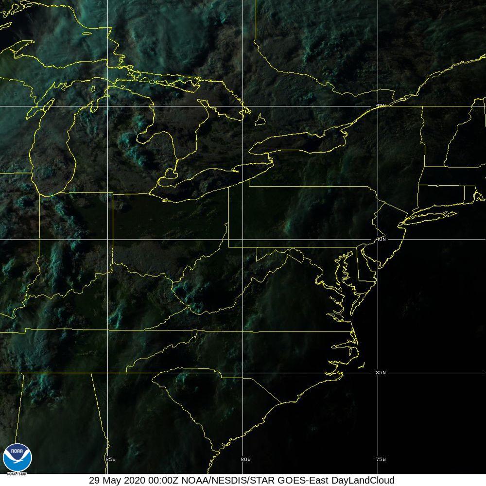 Day Land Cloud - EUMETSAT Natural Color - 29 May 2020 - 0000 UTC