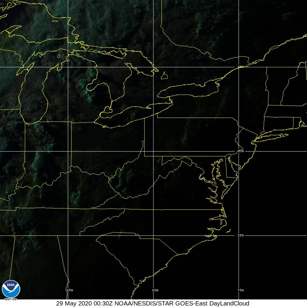 Day Land Cloud - EUMETSAT Natural Color - 29 May 2020 - 0030 UTC