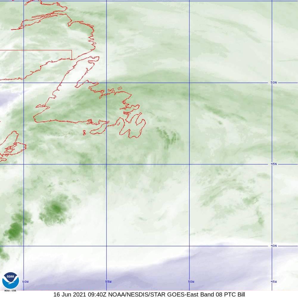 Band 8 - 6.2 µm - Upper-Level Water Vapor - IR  - 16 Jun 2021 - 0940 UTC