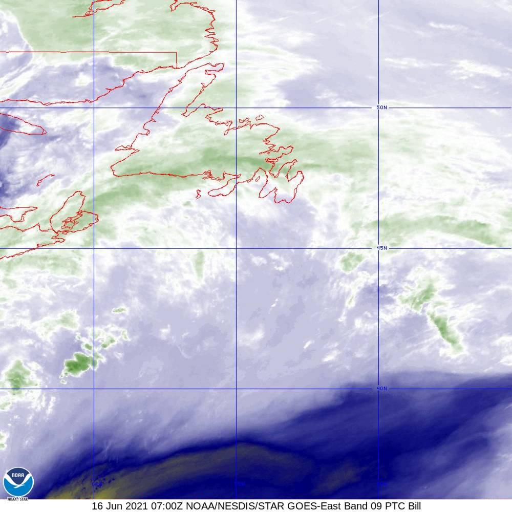 Band 9 - 6.9 µm - Mid-Level Water Vapor - IR  - 16 Jun 2021 - 0700 UTC