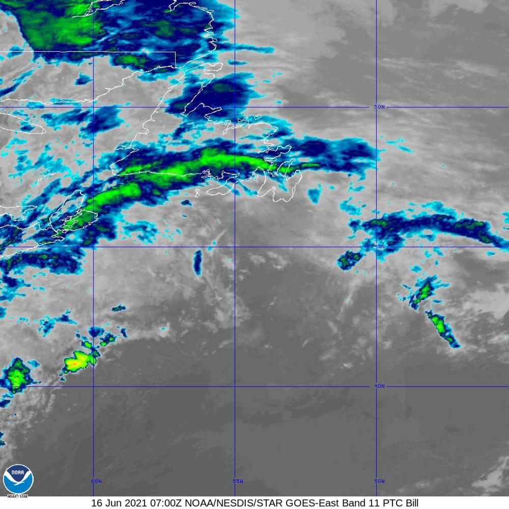 Band 11 - 8.4 µm - Cloud Top - IR - 16 Jun 2021 - 0700 UTC