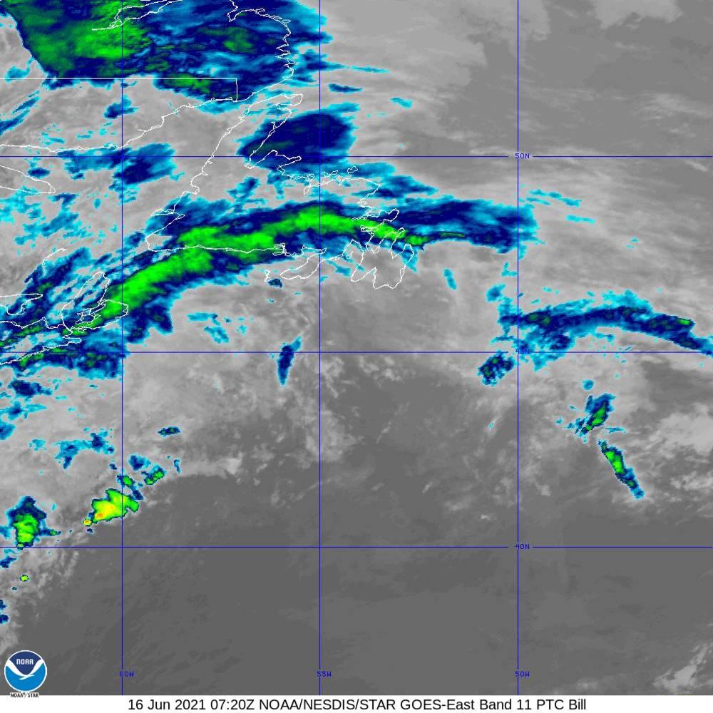 Band 11 - 8.4 µm - Cloud Top - IR - 16 Jun 2021 - 0720 UTC