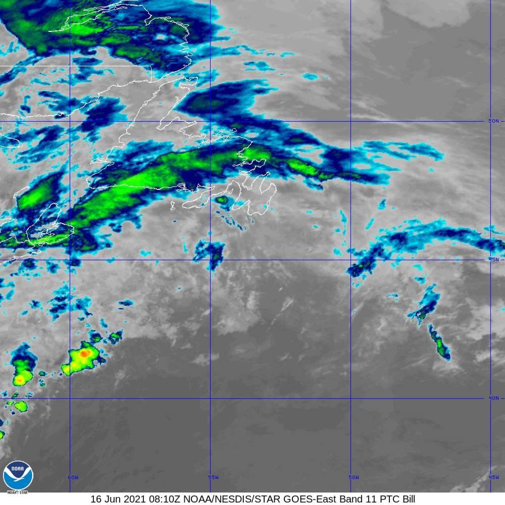 Band 11 - 8.4 µm - Cloud Top - IR - 16 Jun 2021 - 0810 UTC