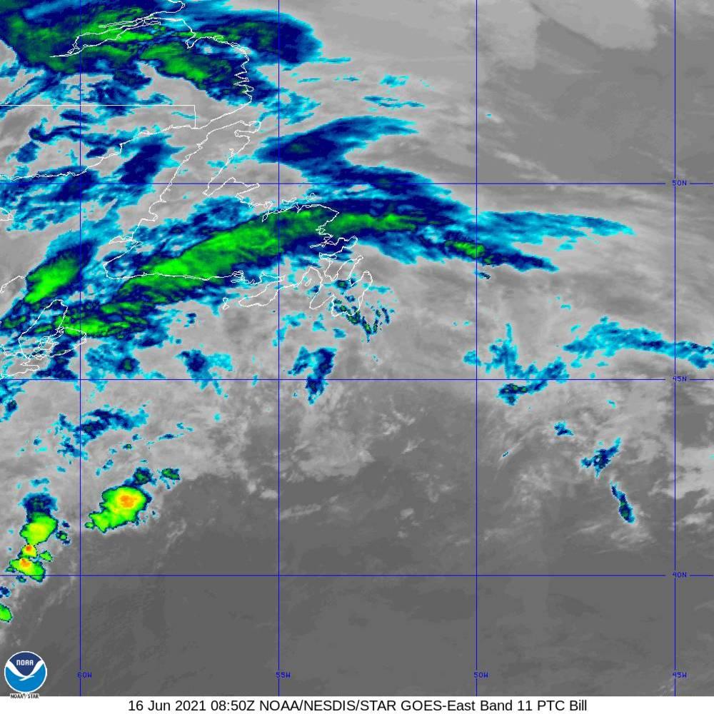 Band 11 - 8.4 µm - Cloud Top - IR - 16 Jun 2021 - 0850 UTC