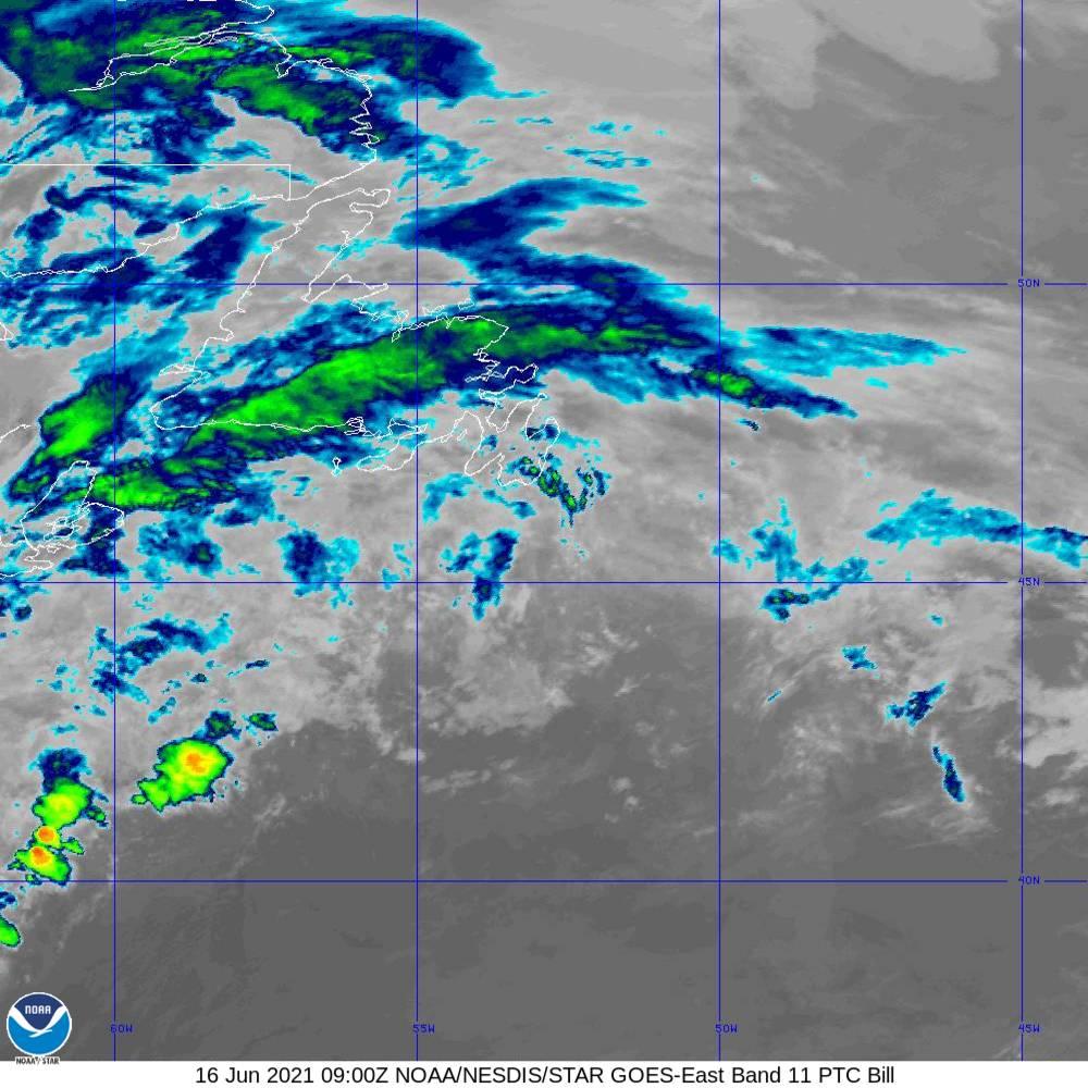 Band 11 - 8.4 µm - Cloud Top - IR - 16 Jun 2021 - 0900 UTC