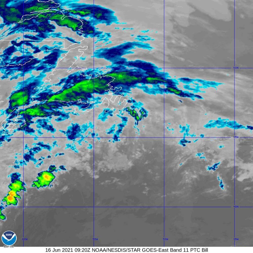 Band 11 - 8.4 µm - Cloud Top - IR - 16 Jun 2021 - 0920 UTC