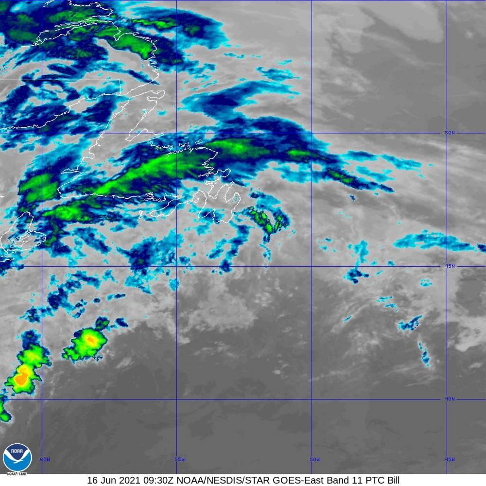 Band 11 - 8.4 µm - Cloud Top - IR - 16 Jun 2021 - 0930 UTC