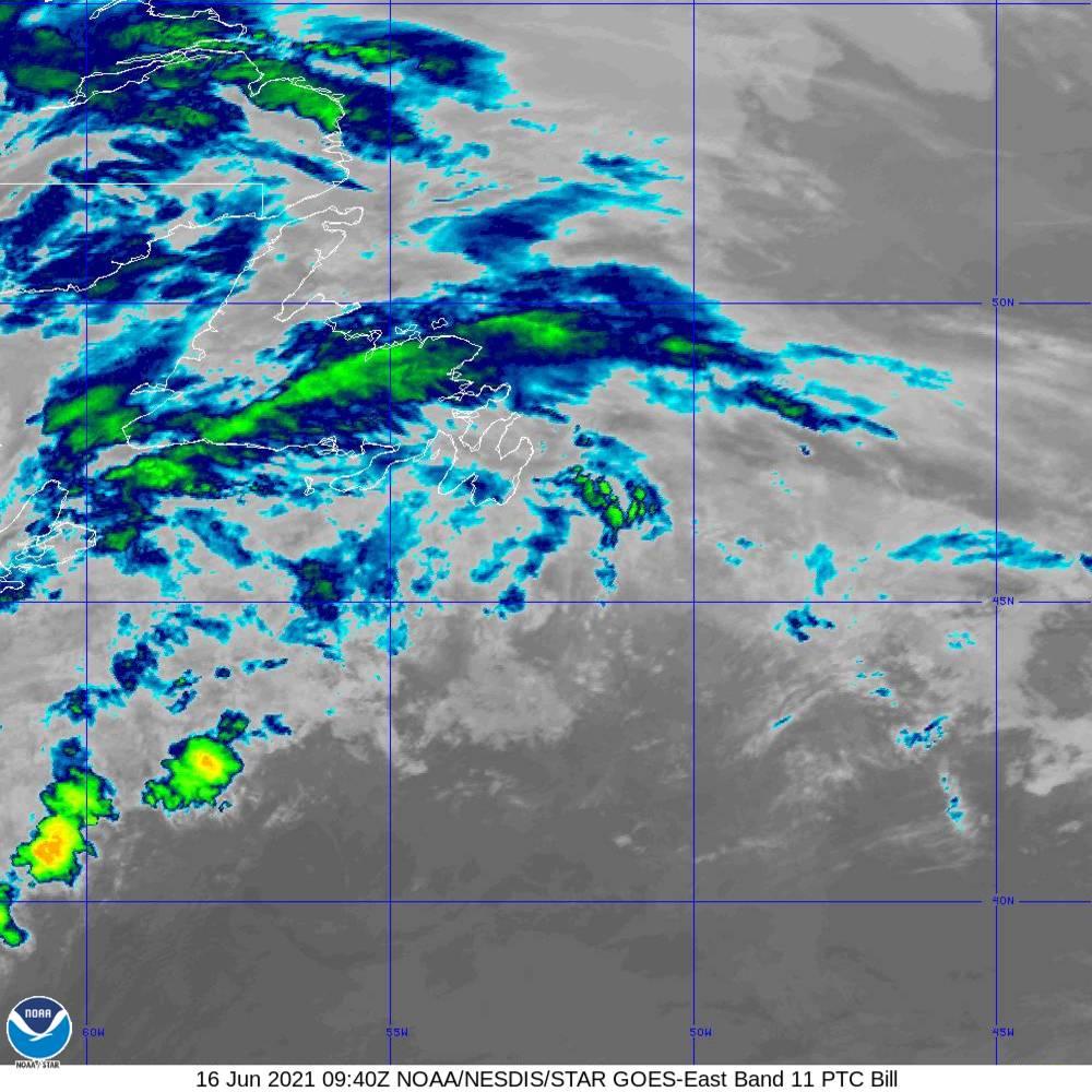 Band 11 - 8.4 µm - Cloud Top - IR - 16 Jun 2021 - 0940 UTC