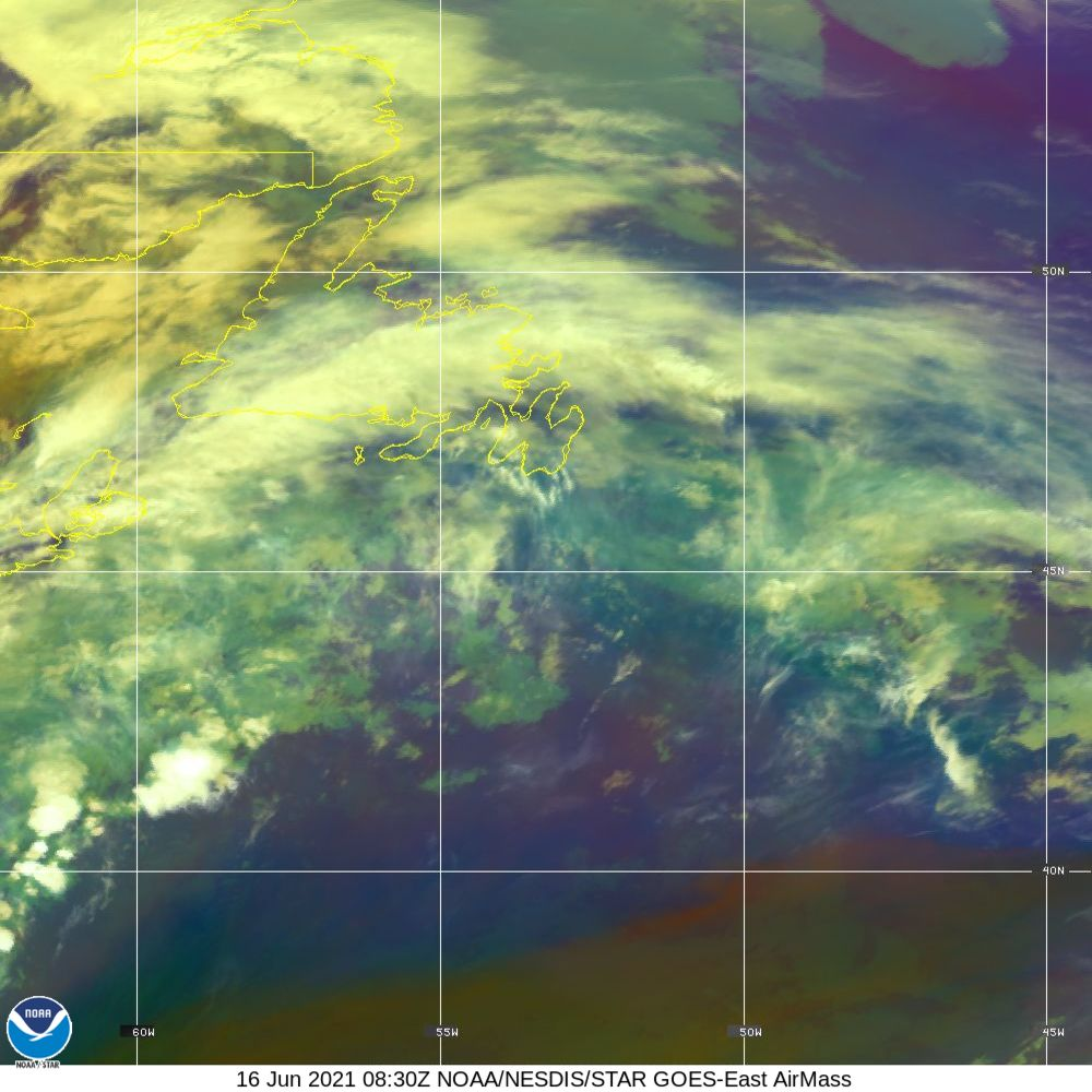 Air Mass - RGB composite based on the data from IR and WV - 16 Jun 2021 - 0830 UTC