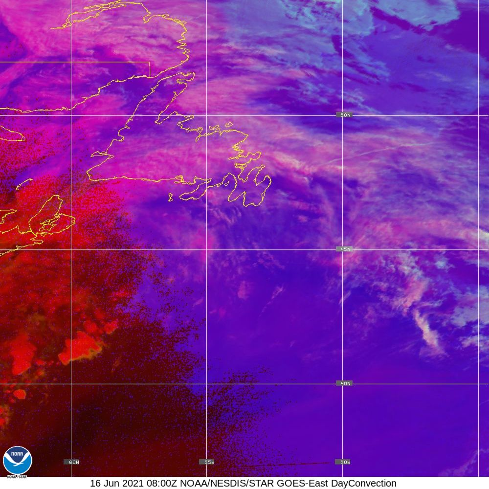 Day Convection - RGB used to identify areas of rapid intensification - 16 Jun 2021 - 0800 UTC
