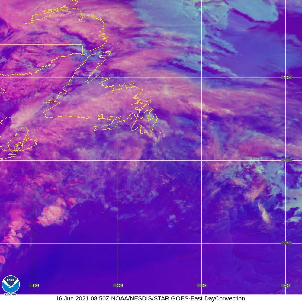 Day Convection - RGB used to identify areas of rapid intensification - 16 Jun 2021 - 0850 UTC