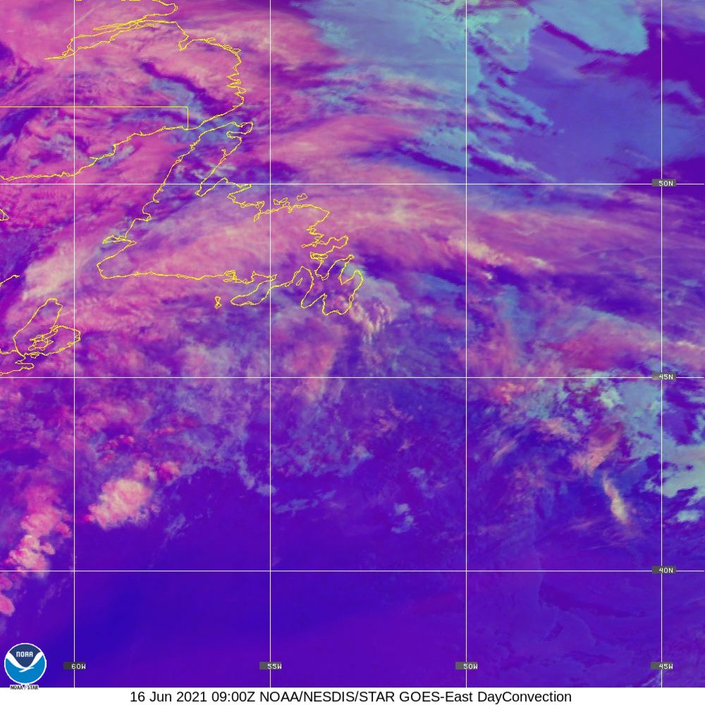 Day Convection - RGB used to identify areas of rapid intensification - 16 Jun 2021 - 0900 UTC