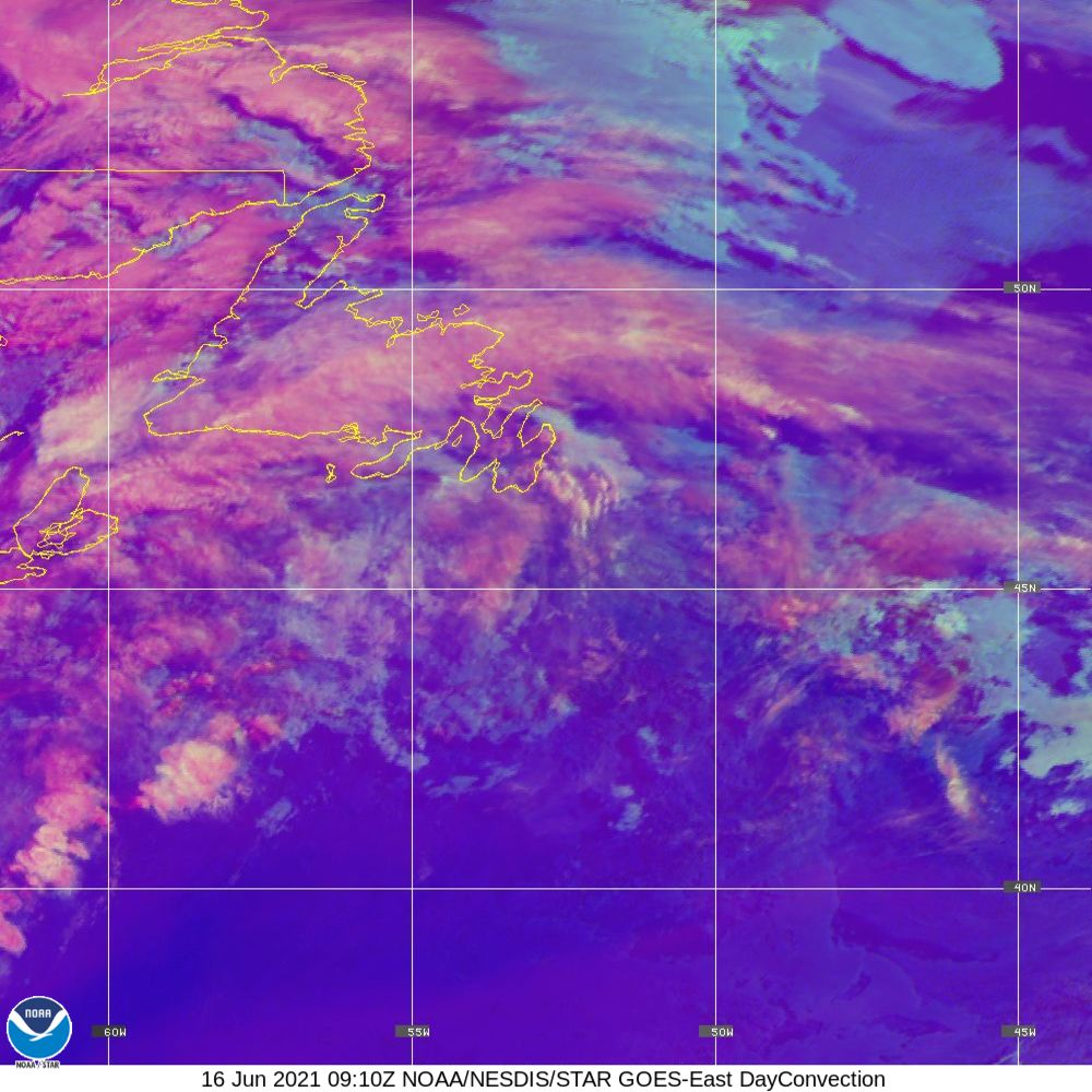 Day Convection - RGB used to identify areas of rapid intensification - 16 Jun 2021 - 0910 UTC