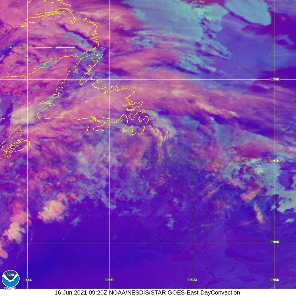 Day Convection - RGB used to identify areas of rapid intensification - 16 Jun 2021 - 0920 UTC