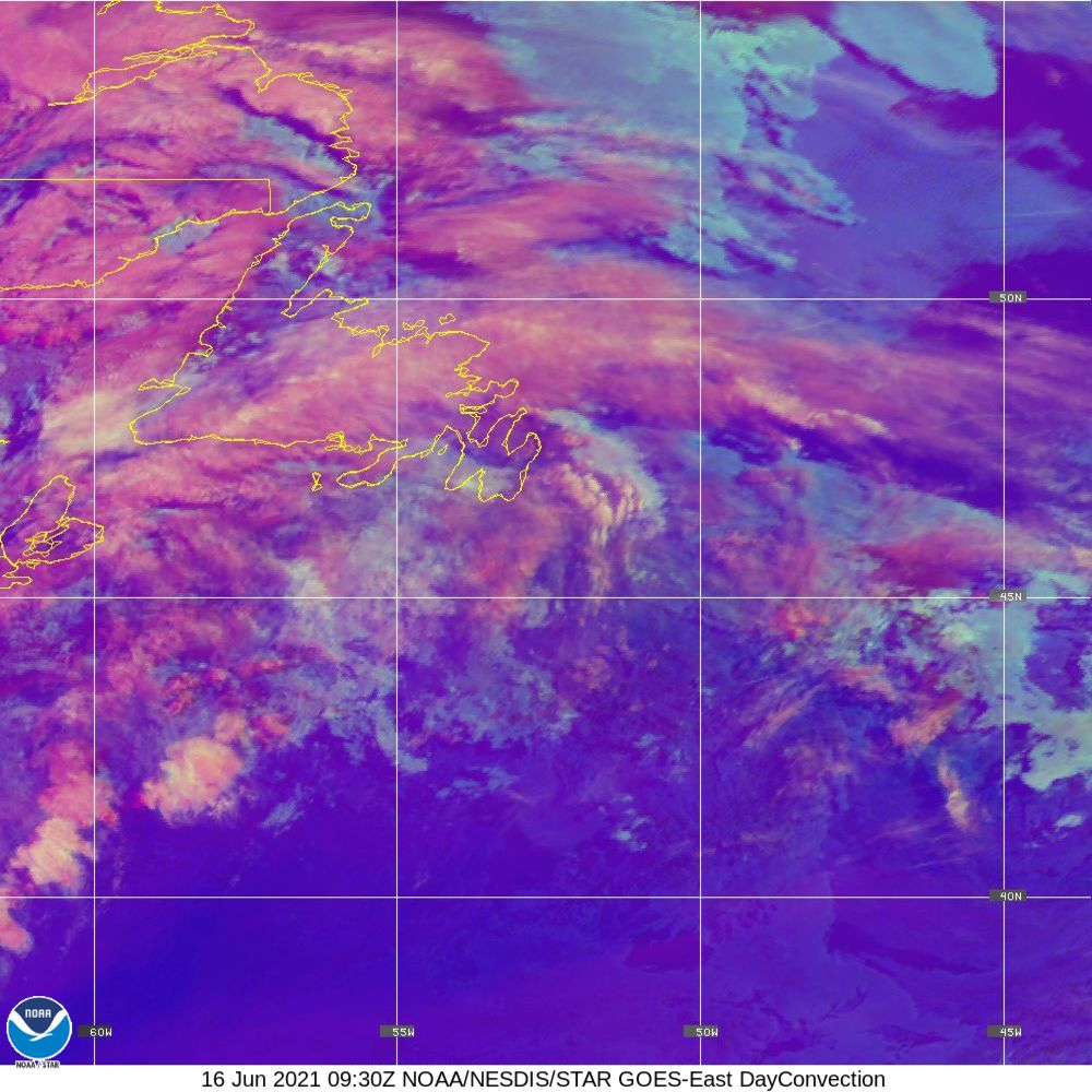 Day Convection - RGB used to identify areas of rapid intensification - 16 Jun 2021 - 0930 UTC