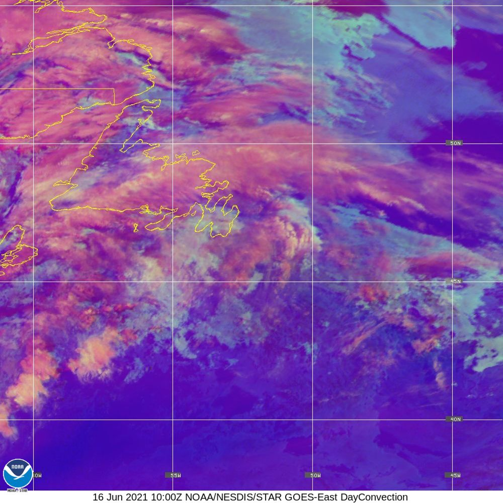 Day Convection - RGB used to identify areas of rapid intensification - 16 Jun 2021 - 1000 UTC