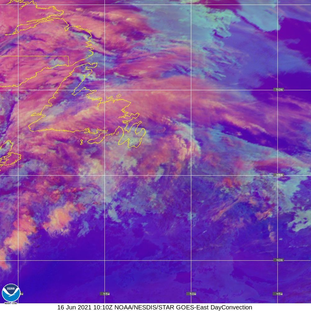 Day Convection - RGB used to identify areas of rapid intensification - 16 Jun 2021 - 1010 UTC