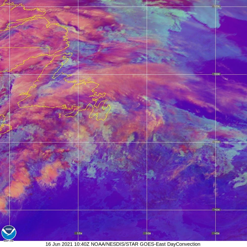 Day Convection - RGB used to identify areas of rapid intensification - 16 Jun 2021 - 1040 UTC