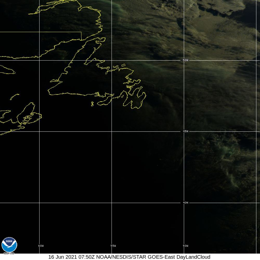 Day Land Cloud - EUMETSAT Natural Color - 16 Jun 2021 - 0750 UTC