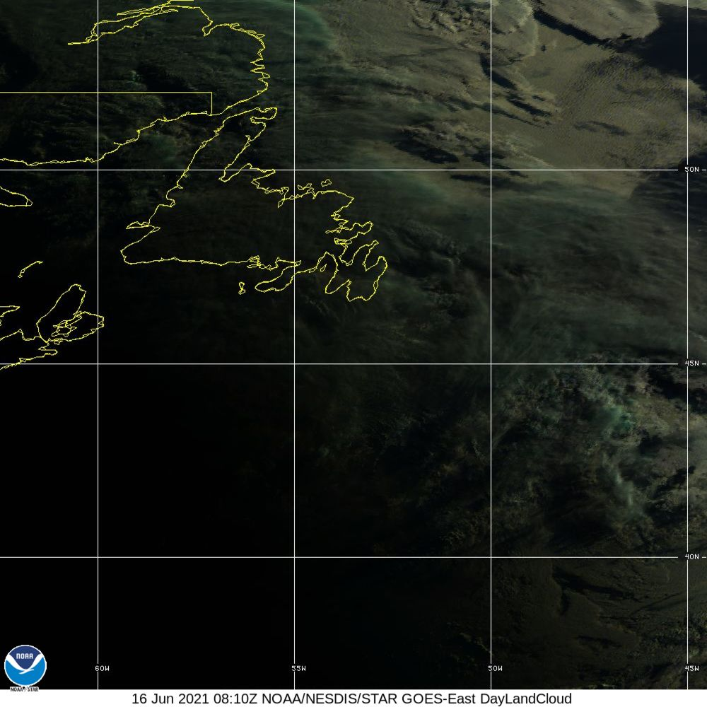 Day Land Cloud - EUMETSAT Natural Color - 16 Jun 2021 - 0810 UTC