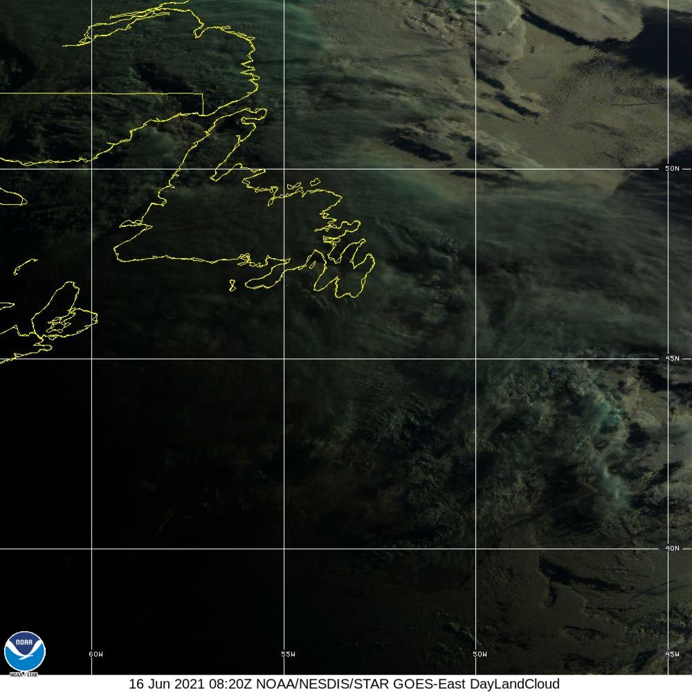 Day Land Cloud - EUMETSAT Natural Color - 16 Jun 2021 - 0820 UTC