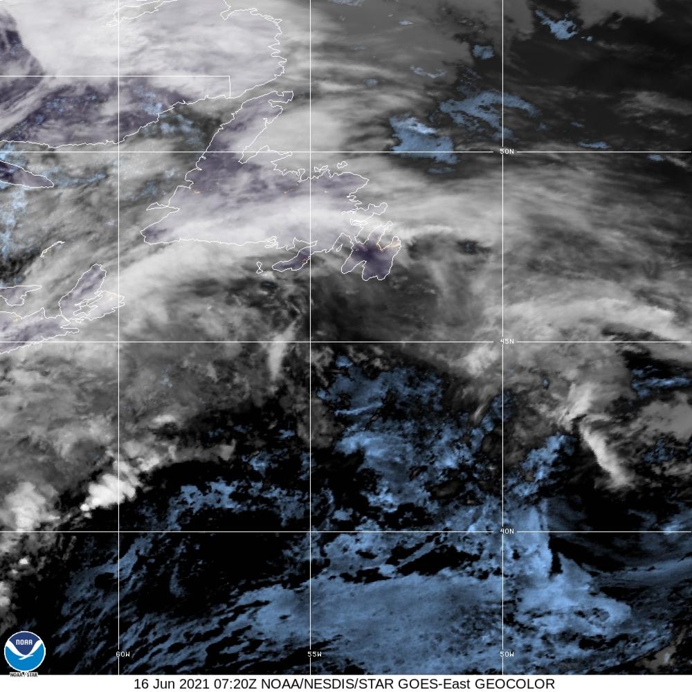 GeoColor - True Color daytime, multispectral IR at night - 16 Jun 2021 - 0720 UTC
